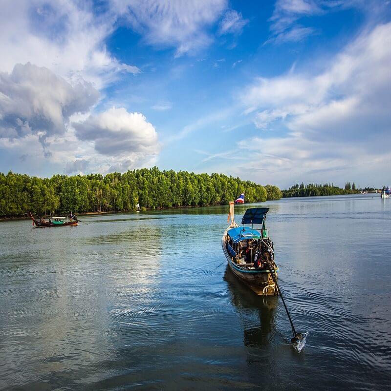 Boats ferrying in Andaman and Nicobar island, India