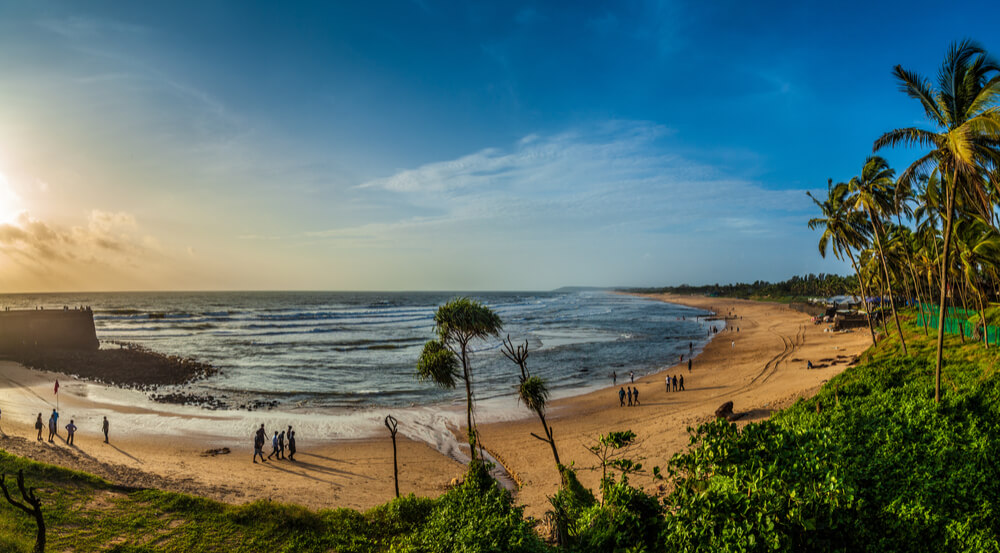 Candolim beach at Sunset. It is one of the best beaches in Goa