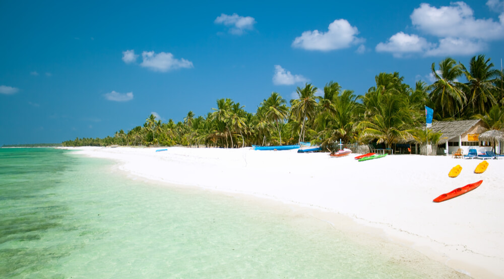 Beautiful tropical beach at the Agatti island