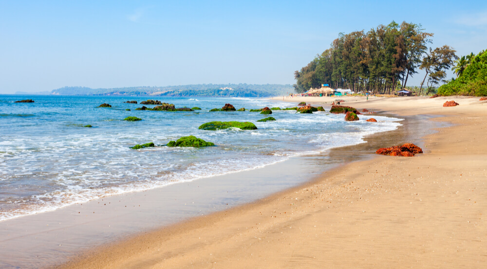 Keri or Kerim or Querim beach in North Goa, India