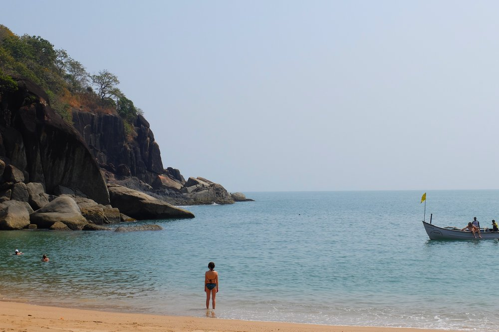 The hidden Butterfly beach in Goa