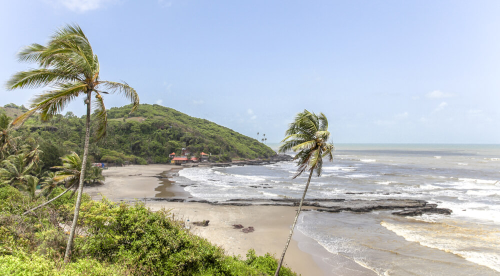 A view of the famous beach of Cavelossim beach in India