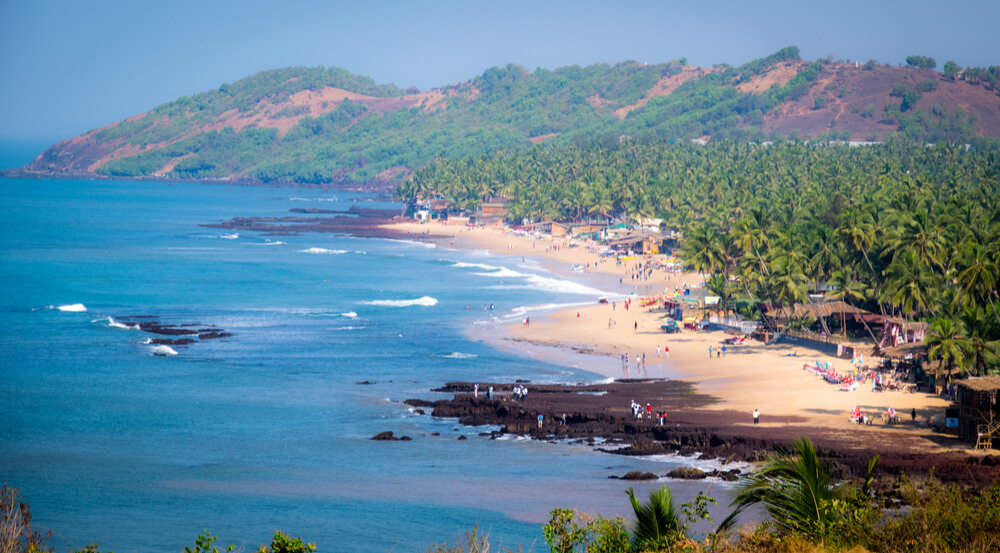Anjuna Beach in North Goa, India