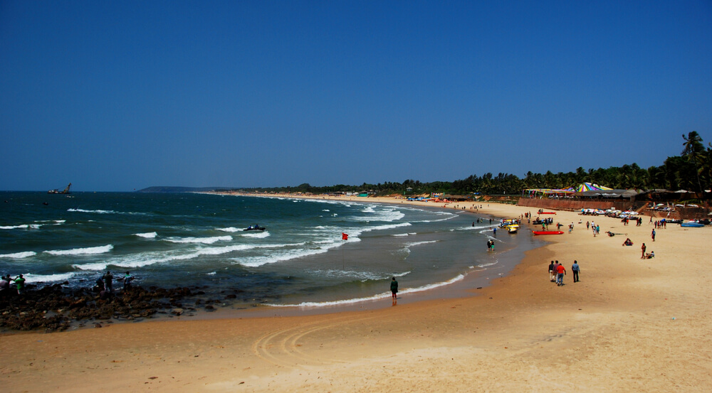 Sinquerim beach in Candolim, Goa, India