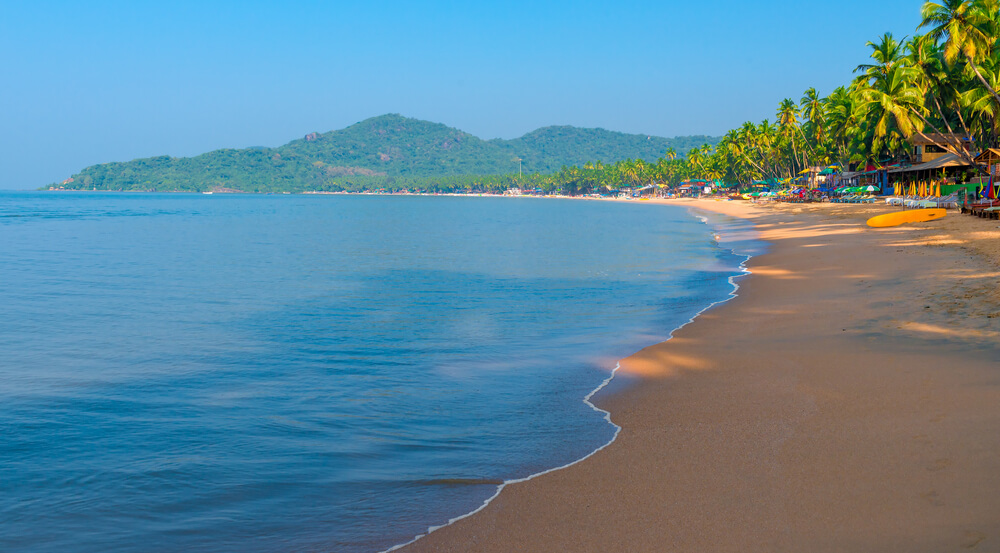 Palolem Beach, Goa during the morning hours