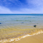 Beautiful summer view of Serena Beach at Mandvi, Gujarat, India