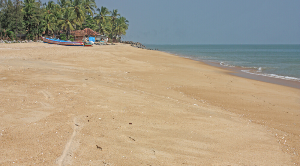 Tropical beach in Bekal, Kerala, India