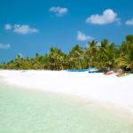 Beautiful tropical beach at the Agatti island, Lakshadweep