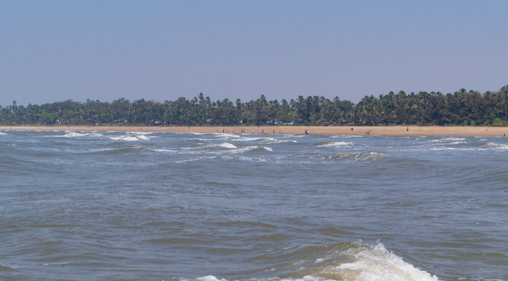 View of Aksa beach, a popular beach and a picnic spot in Aksa village at Malad, Mumbai, India