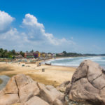 The beach at Mahabalipuram village, Tamil Nadu, India