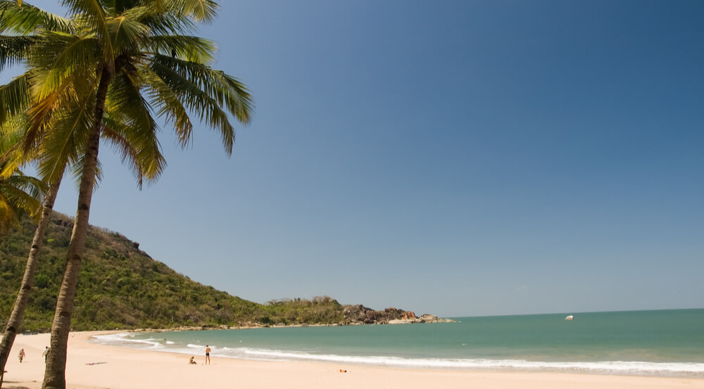 Tropical beach of Agonda, Goa, India